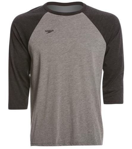 HSC black/gray baseball Tee - Speedo Unisex Baseball Tee Shirt