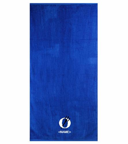 Royal Team Towel  - Royal Comfort Terry Velour Beach Towel 32 X 64
