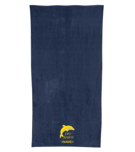 Del Amigo Team Towel - Royal Comfort Terry Velour Beach Towel 32 X 64
