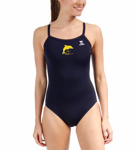 Del Amigo TYR Female Suit - TYR Durafast Solid Diamondfit One Piece Swimsuit