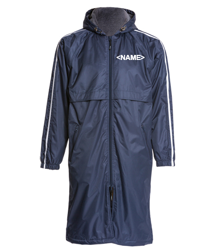 Del Amigo Adult Parka - Sporti Striped Comfort Fleece-Lined Swim Parka