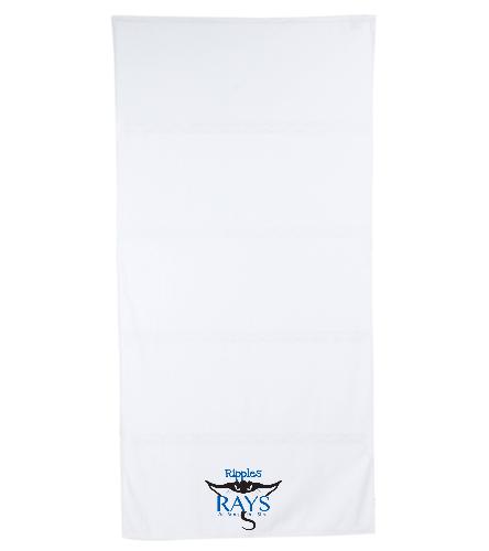 Rays Towel White - Royal Comfort Terry Velour Beach Towel 32 X 64