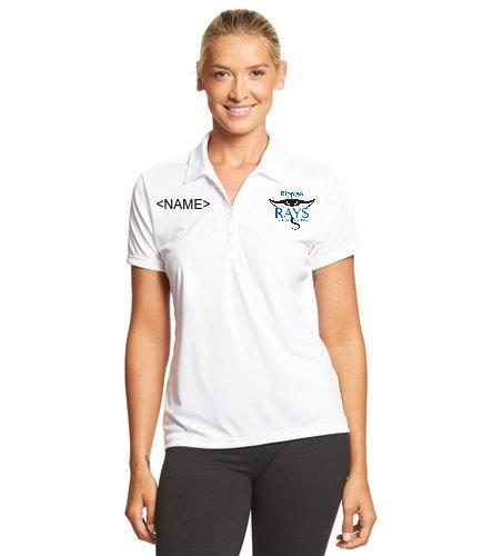 Coach Girls Tee White - SwimOutlet Sport-Tek® Women's PosiCharge® Competitor™ Polo