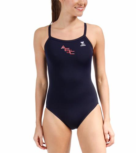 AESC Team Diamondfit  - TYR Durafast Solid Diamondfit One Piece Swimsuit
