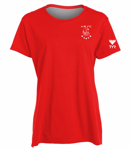 AESC Ladies Red Tee -  Heavy Cotton Missy Fit T-Shirt
