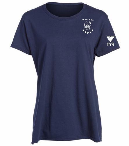 AESC Ladies Navy Tee -  Heavy Cotton Missy Fit T-Shirt