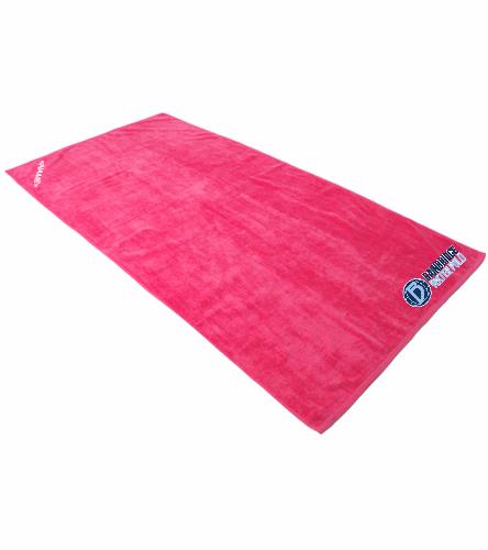 Bainbridge Pink Large Towel  - Royal Comfort Terry Velour Beach Towel 32 X 64