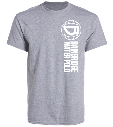 Adult T-shirt Bainbrodge Water Polo - SwimOutlet Unisex Cotton Crew Neck T-Shirt