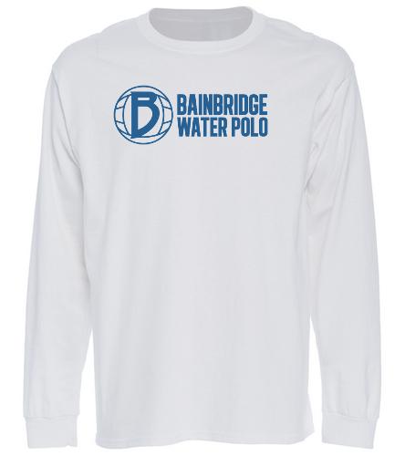 White Long Sleeve T-Shirt BIWPC - SwimOutlet Cotton Unisex Long Sleeve T-Shirt