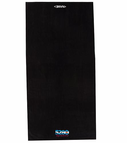 5280 Team Towel  - Royal Comfort Terry Velour Beach Towel 34X 70