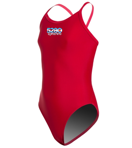 Team Suit 2 - iSwim Essential Solid Thin Strap One Piece Swimsuit Youth (22-28)