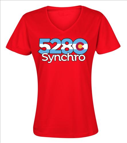 5280 V-Neck - SwimOutlet Women's Cotton V-Neck T-Shirt