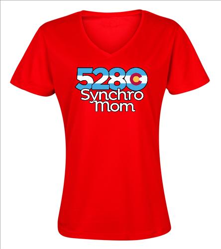 Synchro Mom - SwimOutlet Women's Cotton V-Neck T-Shirt