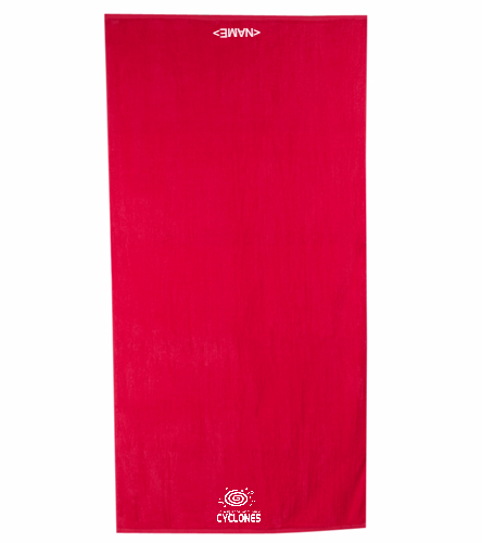 Cyclones Towel  - Royal Comfort Terry Velour Beach Towel 32 X 64