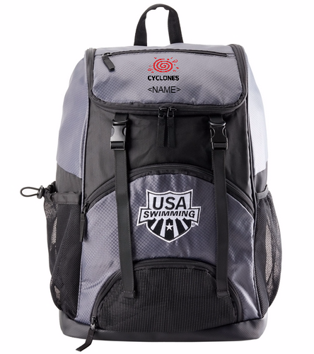 Cyclones Backpack  - USA Swimming Large Athletic Backpack