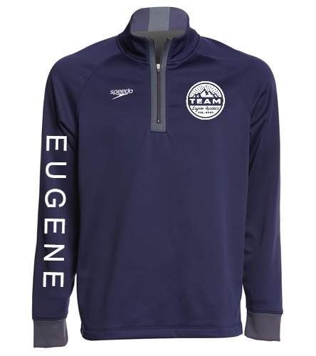 Circle logo with EUGENE down arm - Speedo Unisex 3/4 Zip Sweatshirt