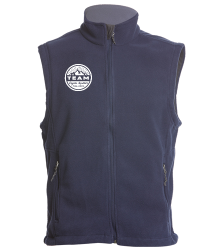 circle logo - SwimOutlet Adult Men's Fleece Vest