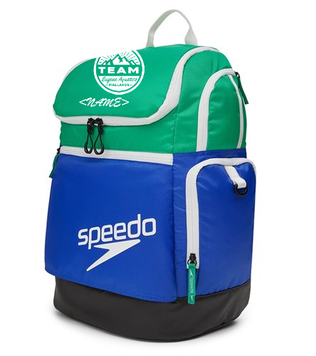 White circle logo, blue and green bag - Speedo Teamster 2.0 35L Backpack
