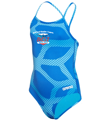 Arena Girls' Spider - Arena Girls' Spider Light Drop Back One Piece Swimsuit