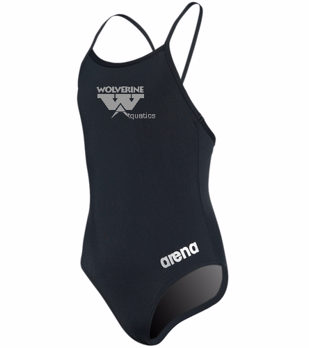 WAC Female Youth Thin Strap - Arena Girls' Master MaxLife Thin Strap Micro Back One Piece Swimsuit