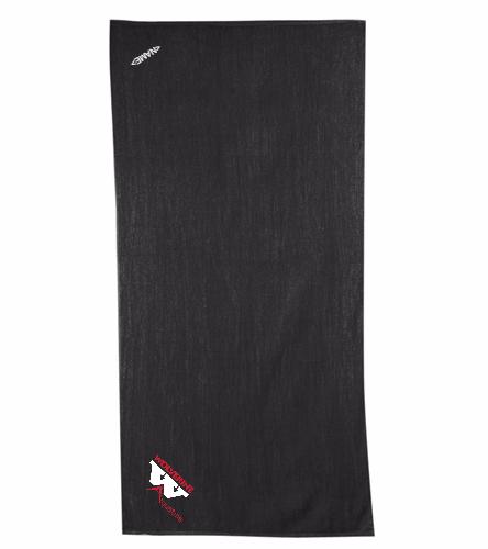 WAC Black Towel - Diplomat Terry Velour Beach Towel 30 x 60