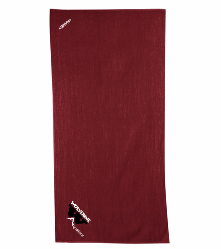 WAC Burgundy Towel - Diplomat Terry Velour Beach Towel 30 x 60