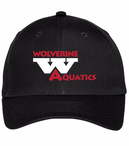 WAC Black - SwimOutlet Unisex Performance Twill Cap