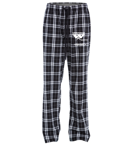 WAC Flannel Pant w/ or w/o athlete name - SwimOutlet Unisex Flannel Plaid Pant