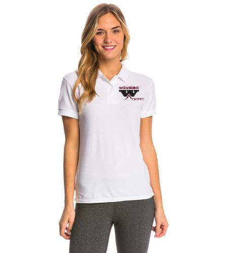 WAC White - SwimOutlet Women's Pique Polo