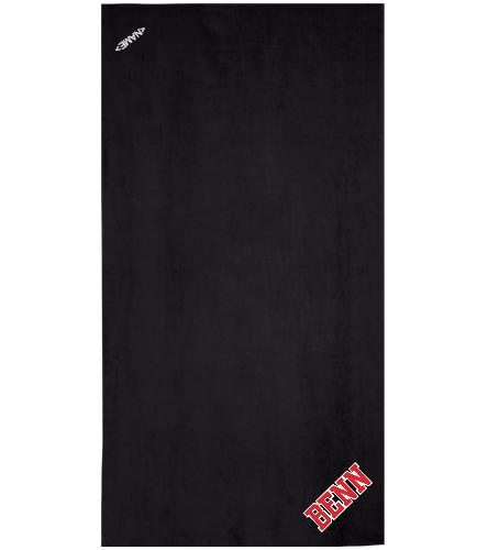 BENN Black - Royal Comfort Terry Velour Beach Towel 32 X 64