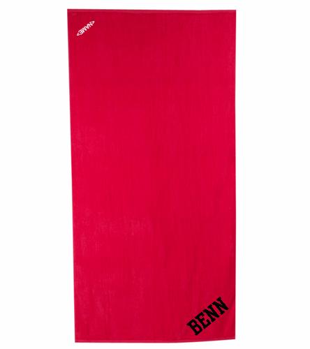 BENN Red - Royal Comfort Terry Velour Beach Towel 32 X 64