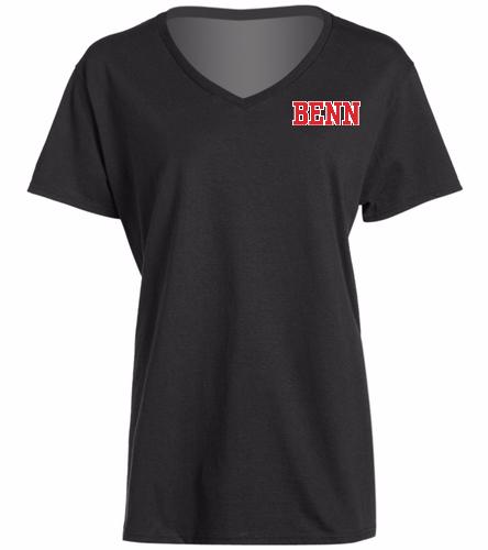 BENN Black - SwimOutlet Women's Cotton V-Neck T-Shirt