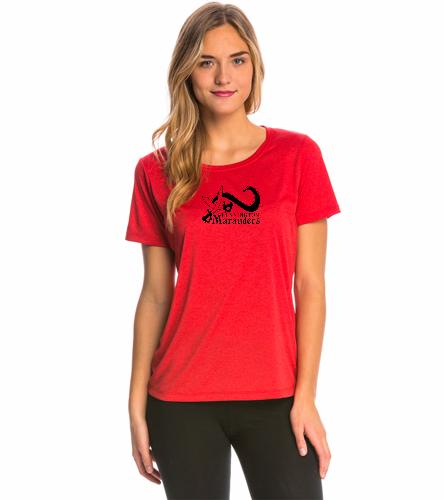 BENN Red - SwimOutlet Women's Tech Tee