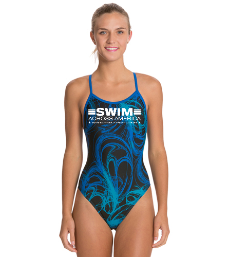 SAA2 - Sporti Light Wave Thin Strap One Piece Swimsuit