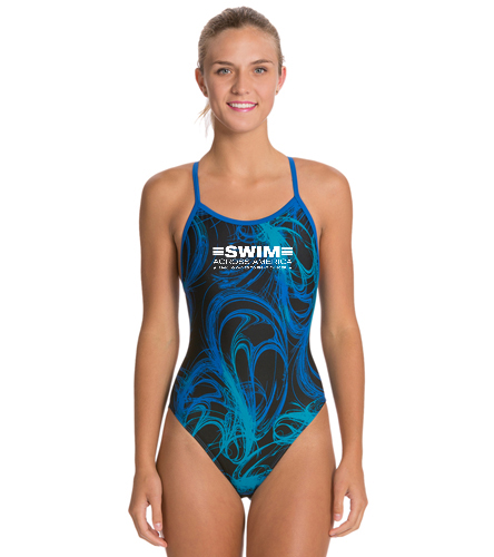 SAA  - Sporti Light Wave Thin Strap One Piece Swimsuit