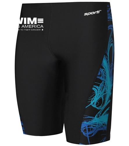 SAA Men's Jammers - Sporti Light Wave Piped Splice Jammer Swimsuit