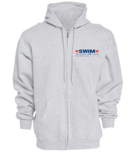 SAA - SwimOutlet Unisex Adult Full Zip Hoodie