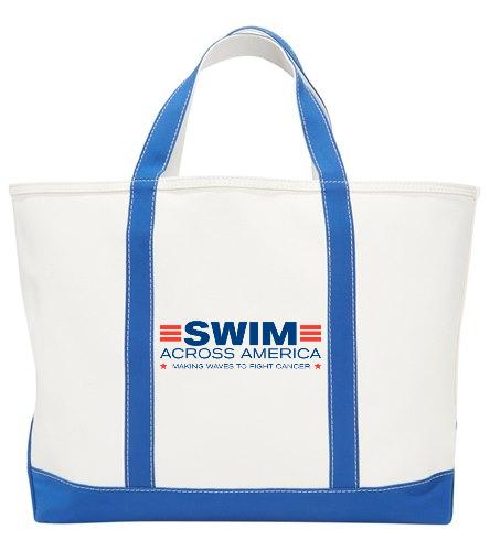 SAA Tote Bag - Sporti Zip Top Canvas Beach Tote Bag