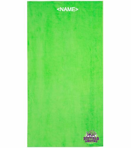 BAAC green towel - Royal Comfort Terry Velour Beach Towel 32 X 64