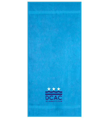 DCAC Blue Royal Comfort Terry Cotton Beach Towel  - Royal Comfort Terry Cotton Beach Towel 32 x 64