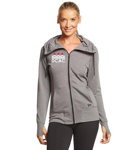 DCAC Women's Fleece Zip Hoodie - SwimOutlet New Era® Women's Tri-Blend Fleece Full-Zip Hoodie