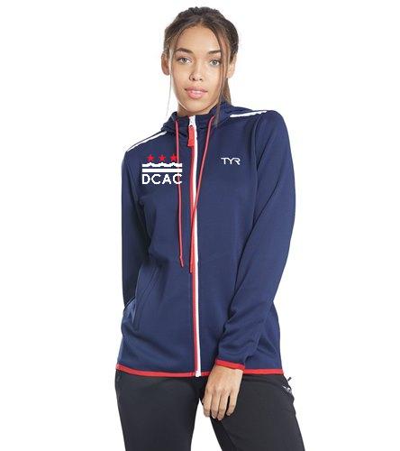 DCAC Women's Warmup Jacket - TYR Women's Team Full Zip Hoodie