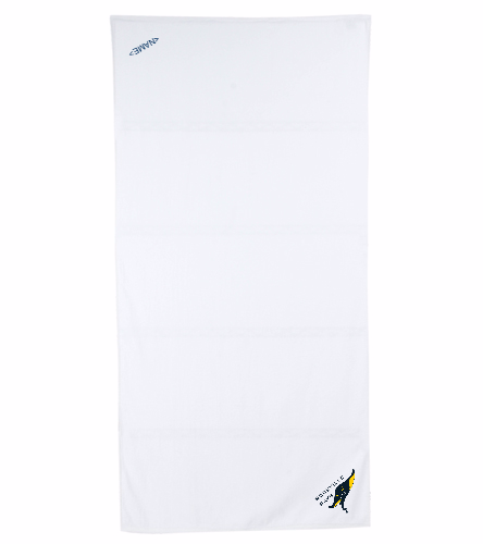 Rays White - Royal Comfort Terry Velour Beach Towel 32 X 64