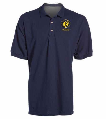 Rays Navy -  Ultra Cotton Adult Pique Sport Shirt