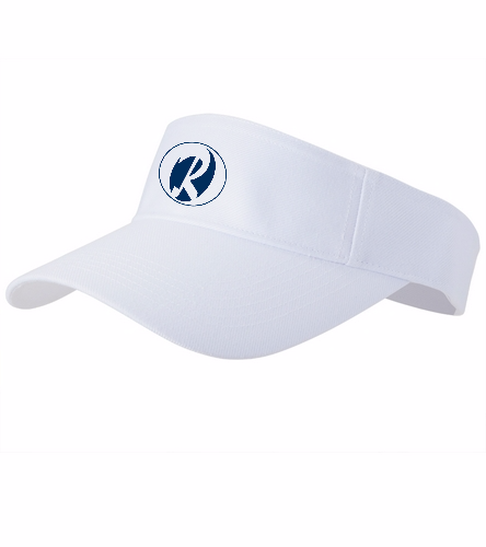 Rays white - SwimOutlet Custom Cotton Twill Visor