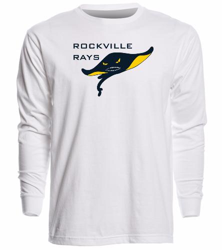 Rays White - Unisex Long Sleeve Crew/Cuff