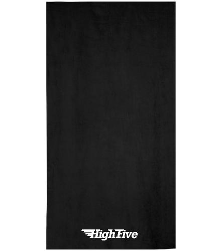 HighFive Terry Velour Beach Towel 32 x 64 Beach Towel - Royal Comfort Terry Velour Beach Towel 32 X 64