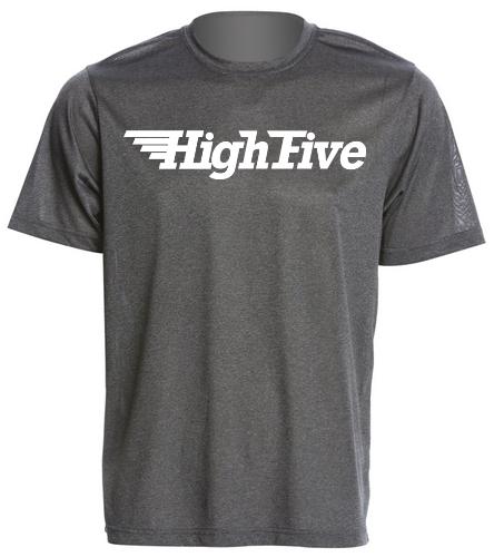 HighFive tech tee- double logo - SwimOutlet Men's Tech Tee