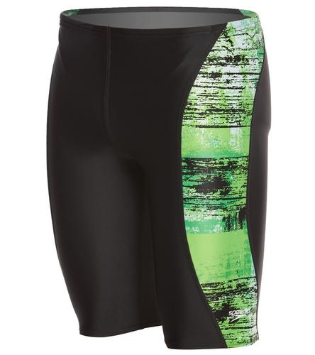 Letters - Speedo Men's PowerFLEX Eco Splatter Chatter Jammer Swimsuit