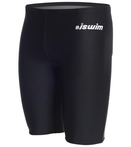 Jet black - iSwim Men's Hashtag Jammer Swimsuit
